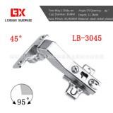ldlum品牌35杯45度二段力铰链45度角度铰链液压铰链