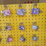 花型原子钥匙锁,灰色一字锁